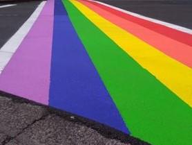 Rainbow Crosswalk 2021